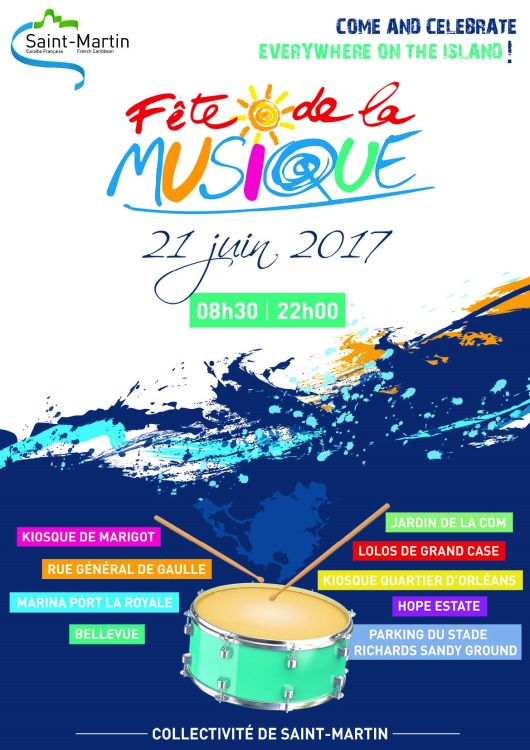 Fête de la musique 2017 : Come and celebrate everywhere on the island !