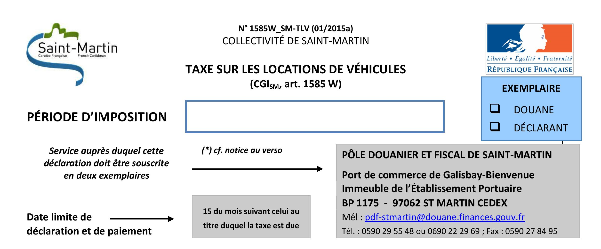 Community of saint martin french west indies for Motor vehicle service notification