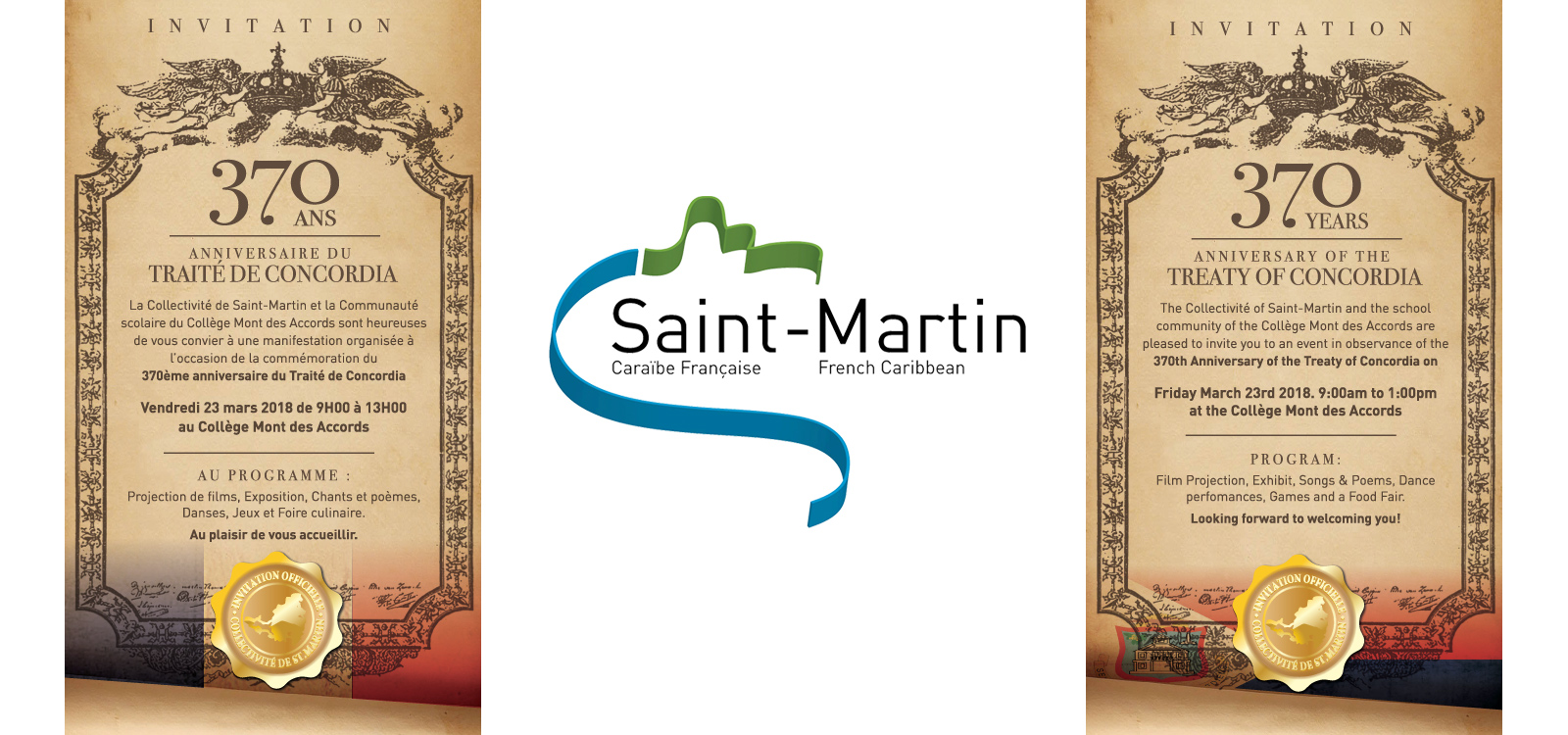 39b7afb018a The Saint-Martin Youth Territorial Council and the Collège Mont des  Accords school community invite the public to the celebration of the 370e  anniversary ...
